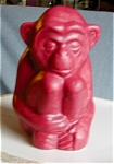 Click here to enlarge image and see more about item rookwood10505: Rookwood Monkey Paperweight