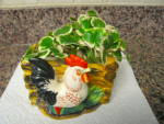 Click to view larger image of Rooster Planter Vintage Japan  (Image6)