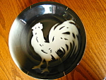 Click here to enlarge image and see more about item roosterplates70807: Two Vintage Sterling China Rooster Plates