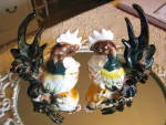 Click here to enlarge image and see more about item roosters0416: Rooster Figurines Vintage