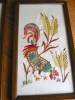Click to view larger image of Vintage Crewel Embroidered Rooster Pictures (Image3)