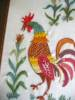 Click to view larger image of Vintage Crewel Embroidered Rooster Pictures (Image5)