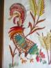 Click to view larger image of Vintage Crewel Embroidered Rooster Pictures (Image6)
