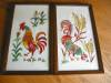 Click to view larger image of Vintage Crewel Embroidered Rooster Pictures (Image7)
