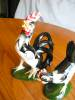 Click to view larger image of Vintgage Rooster and Hen Figurine Pair (Image6)