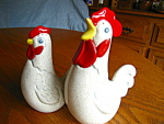 Click to view larger image of Signed Rooster & Hen Shakers (Image1)