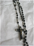 Click here to enlarge image and see more about item rosary15043: Vintage Ebony? Bead Rosary