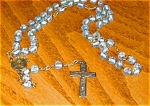 Click here to enlarge image and see more about item rosary70416: Vintage Blue Beads Rosary