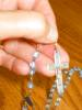 Click to view larger image of Vintage Blue Beads Rosary (Image3)