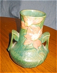 Click here to enlarge image and see more about item rose10032: Roseville Clematis Vase