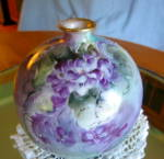 Click to view larger image of Rosenthal Hand Painted Antique Bud Vase (Image3)