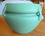 Click here to enlarge image and see more about item roseville3085: Roseville Matte Green Antique Jardiniere