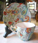 Click to view larger image of Rosina Bone China Paisley Vintage Teacup (Image2)