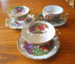 Click here to enlarge image and see more about item royalsealyteacups0315: Royal Sealy Luster Variety Teacup Trio