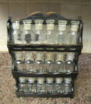 Distressed Spice Rack & Jars