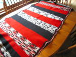 Click here to enlarge image and see more about item saddleblanket1113: Vintage Wool Saddle Horse Blanket