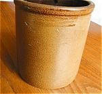 Click here to enlarge image and see more about item saltglaze20506: Antique Saltglaze Crock