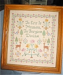 Click here to enlarge image and see more about item samp10031: Vintage Sampler