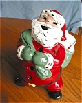 Click here to enlarge image and see more about item santa1504: Vintage California Santa Votive