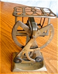 Click here to enlarge image and see more about item scale110414: Vintage Austrian Brass Scale