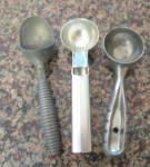 Click here to enlarge image and see more about item scoops050911: Vintage Kitchen Scoops