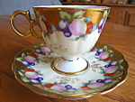 Click to view larger image of Royal Sealy Fruit Pedestal Teacup (Image1)