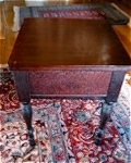 Mahogany Sewing Cabinet & Notions