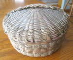 Click to view larger image of Large Native American Sewing Basket (Image7)