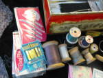 Click to view larger image of Vintage Sewing Tin Box & Notions (Image7)