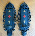 Click here to enlarge image and see more about item sexton20409: Vintage Sexton Metal Candle Sconces