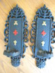 Click to view larger image of Sexton Vintage Metal Candle Sconces (Image3)