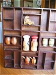 Click here to enlarge image and see more about item shakers20617: Vintage Wood Rack and Souvineer Shakers