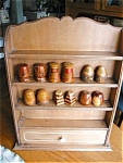 Click here to enlarge image and see more about item shakers20626a: Vintage Display Rack and Souvineer Shakers