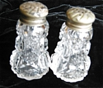 Click here to enlarge image and see more about item shakers505430: Antique Glass Shakers