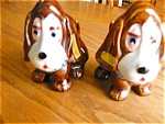 Click here to enlarge image and see more about item shakers60508: Vintage Sad Sam Dog Shakers
