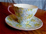 Click here to enlarge image and see more about item shelley50530: Shelley Primrose Chintz Teacup and Saucer