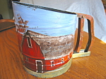 Vintage Foley Sift Chine Hand Painted Sifter
