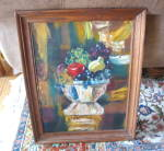 Click here to enlarge image and see more about item signedartoil3013: Vintage Signed Oil