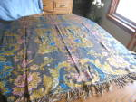 Click here to enlarge image and see more about item silktopper120609: Silk Throw or Tablecloth
