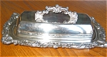 Click here to enlarge image and see more about item silv04042: Antique Silver Copper Butter DIsh