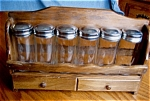 Click here to enlarge image and see more about item spice105051: Vintage Spice Rack Set