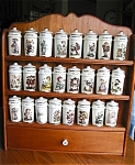 Click here to enlarge image and see more about item spice10609: Danbury Mint Hummel Spice Jar Set