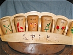 Vintage Wooden Spice Set