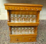 Click here to enlarge image and see more about item spiceset020911: Crystal Foods Spice Jars & Rack