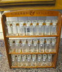 Click here to enlarge image and see more about item spiceset1014: Classic Vintage Spice Jars w/Rack