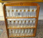 Click to view larger image of Vintage Spice Jars w/Rack (Image2)