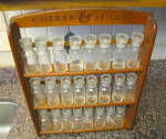 Click to view larger image of Vintage Spice Jars w/Rack (Image7)