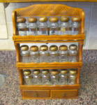 Click to view larger image of Wood Spice Jars w/Rack (Image6)