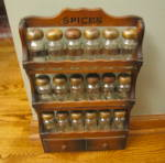 Click to view larger image of Vintage Spice Shelf w/Jars (Image5)