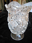 Antique Pattern Pressed Glass Spooner